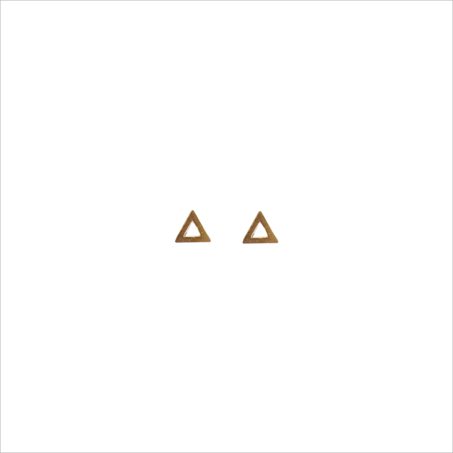 Gouden ALLTHELUCKINTHEWORLD Oorbellen PETITE EARRINGS TRIANGLE - large