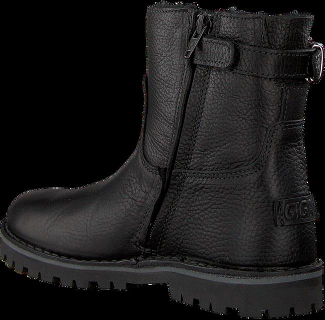 Zwarte GIGA Enkellaarsjes 9531 - large