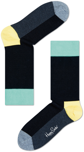 Zwarte HAPPY SOCKS Sokken FIVE COLOUR - large