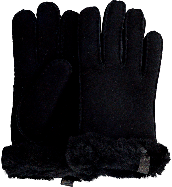 Zwarte UGG Handschoenen SHORTY GLOVE W/TRIM  - large