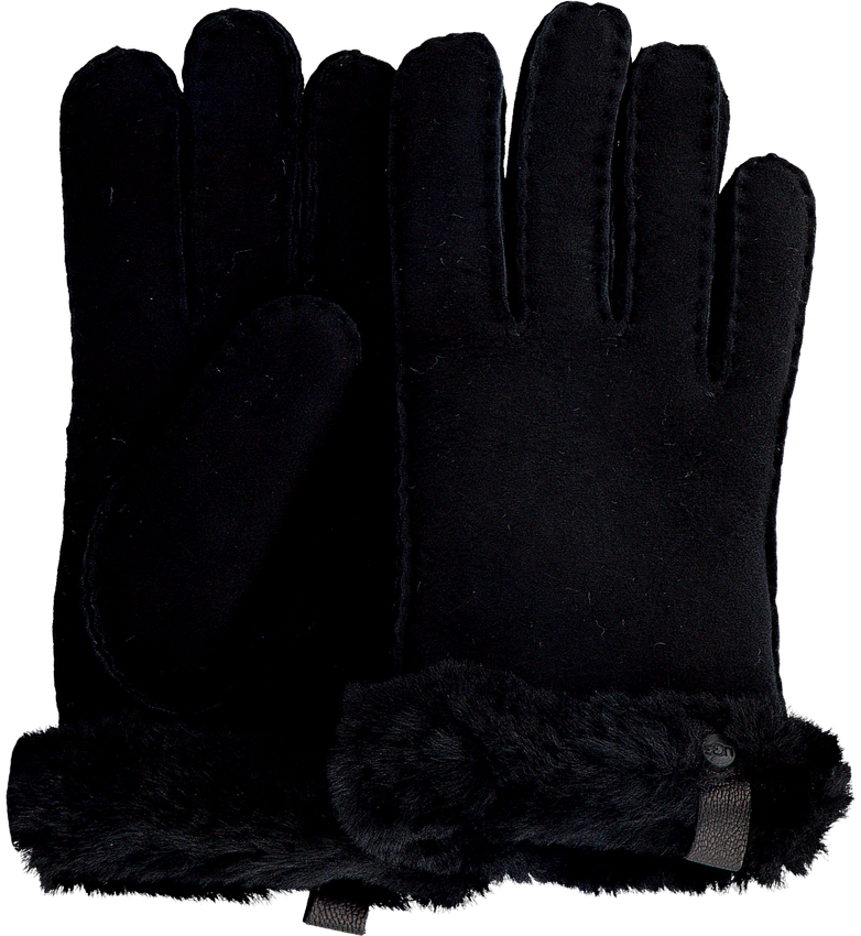 Zwarte UGG Handschoenen SHORTY GLOVE W/TRIM  - larger
