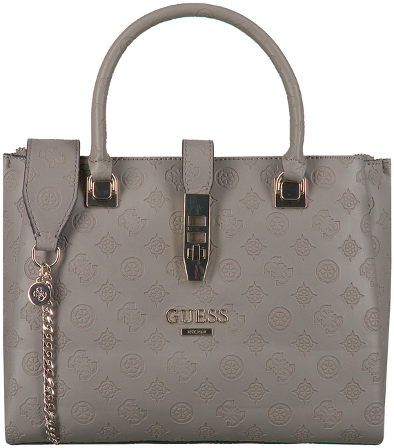 Taupe GUESS Handtas PEONY CLASSIC GIRLFRIEND CARRY  - large