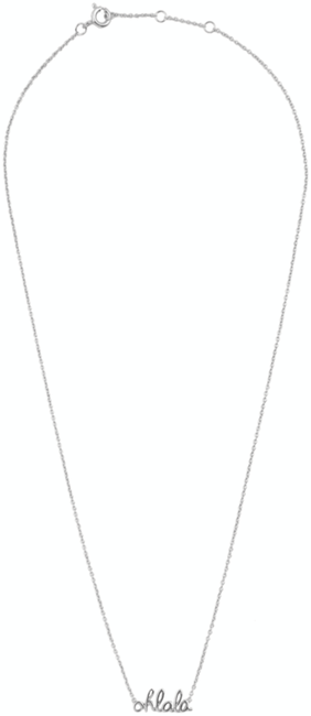 Zilveren ALLTHELUCKINTHEWORLD Ketting URBAN NECKLACE OHLALA - large