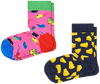 Multi HAPPY SOCKS Sokken 2-PACK KIDS MOUSE  - small