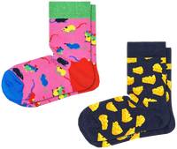 Multi HAPPY SOCKS Sokken 2-PACK KIDS MOUSE  - medium