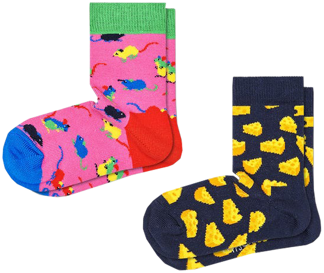 Multi HAPPY SOCKS Sokken 2-PACK KIDS MOUSE  - large