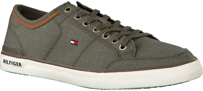 Groene TOMMY HILFIGER Sneakers CORE MATERIAL MIX SNEAKER  - large