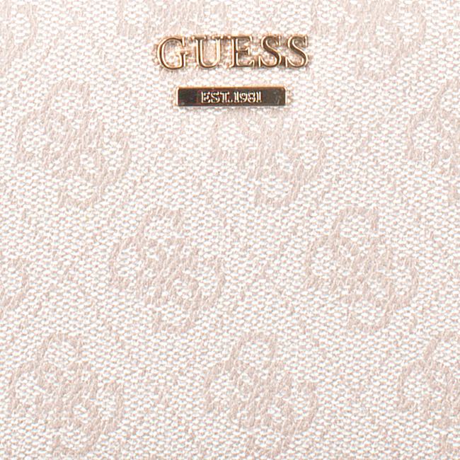Beige GUESS Portemonnee DOWNTOWN COOL SLG - large