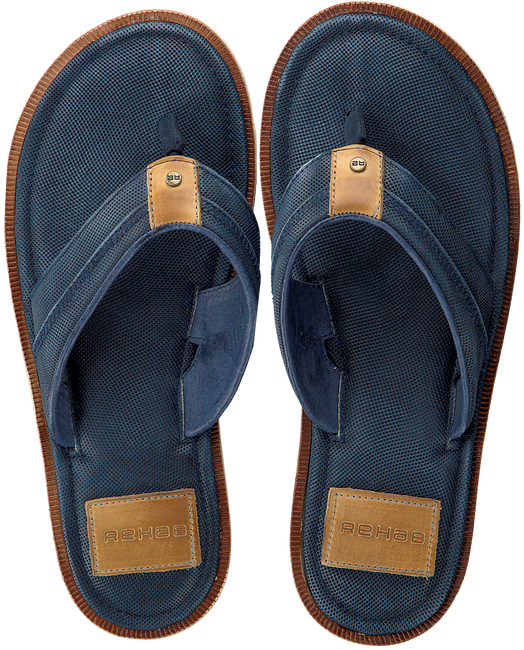 blauwe REHAB Slippers RAOUL  - large