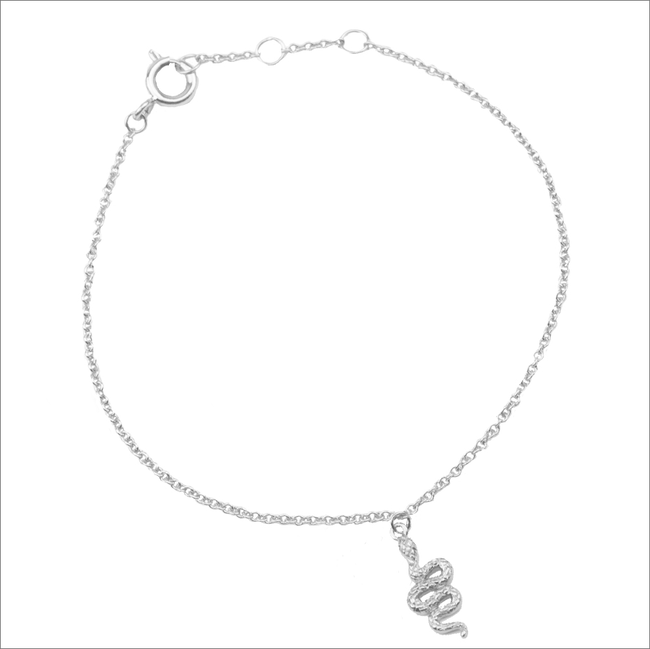 Zilveren ATLITW STUDIO Armband SOUVENIR BRACELET SNAKE - large