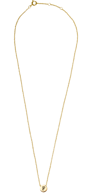 Gouden ATLITW STUDIO Ketting CHARACTER NECKLACE LETTER - large