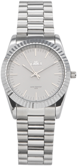 Zilveren IKKI Horloge BRONX - large