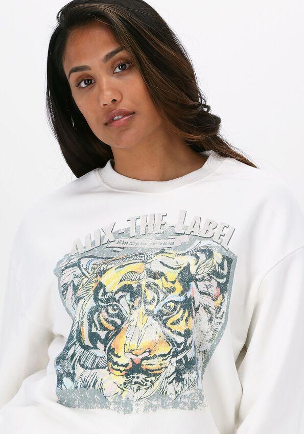 Ecru ALIX THE LABEL Sweater ORGANIC TIGER OVERSIZED SWEATE - larger