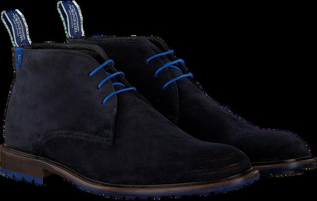 Blauwe FLORIS VAN BOMMEL Veterschoenen 10203  - large