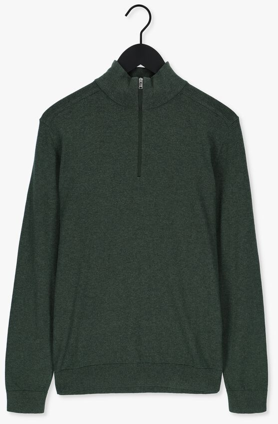 Donkergroene SELECTED HOMME Trui SLHBERG HALF ZIP CARDIGAN B NO - larger