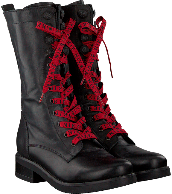 NIKKIE VETERBOOTS HIGH BRANDED LACE BOOTS - large