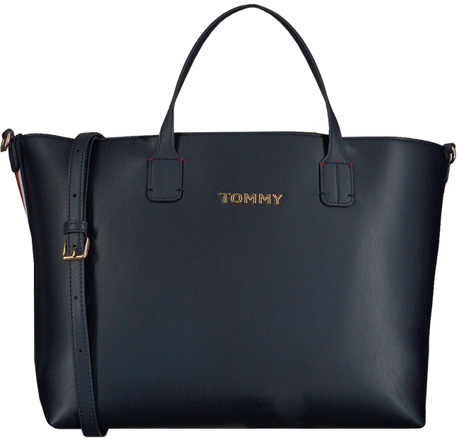 Blauwe TOMMY HILFIGER Shopper ICONIC TOMMY SATCHEL  - large
