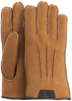 Cognac UGG Handschoenen CASUAL GLOVE WITH LEATHER LOGO - medium