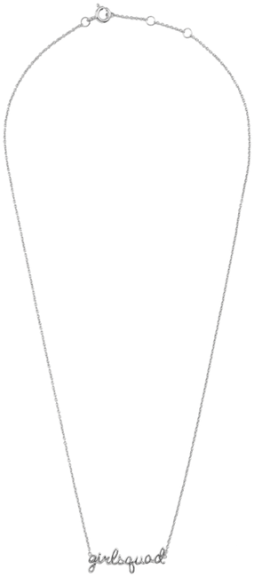 Zilveren ALLTHELUCKINTHEWORLD Ketting URBAN NECKLACE GIRLSQUAD - large