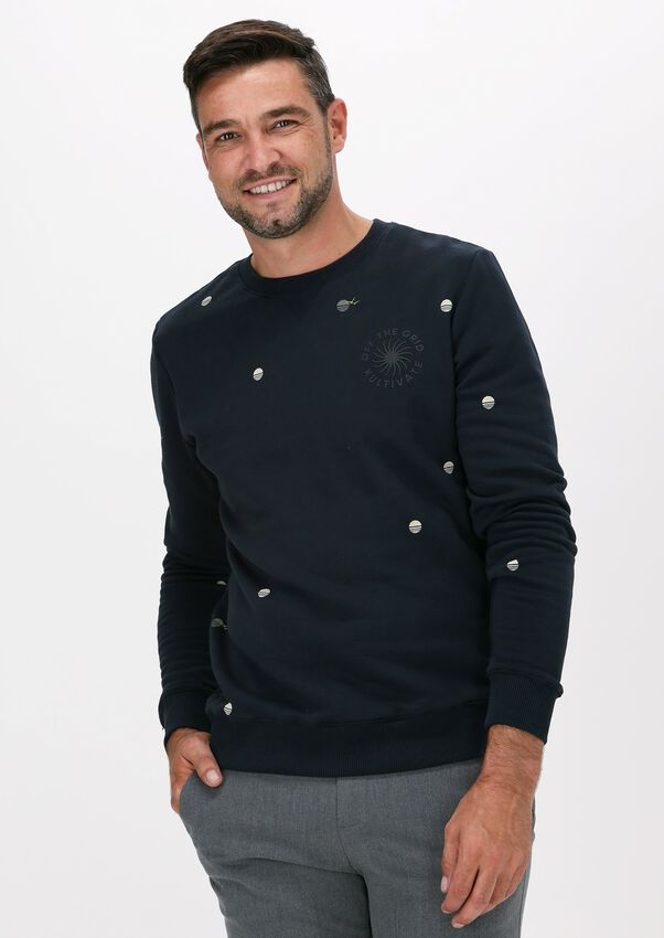 Donkerblauwe KULTIVATE Sweater SW OFF THE GRID - larger