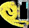 Gele KASCHA-C Telefoonkoord PHONECORD IPHONE XR  - small