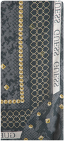 Zwarte GUESS Sjaal KIRBY PRINTED  - medium