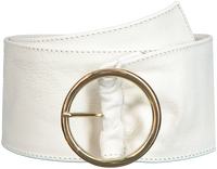Witte DEPECHE Riem WIDE BELT  - medium
