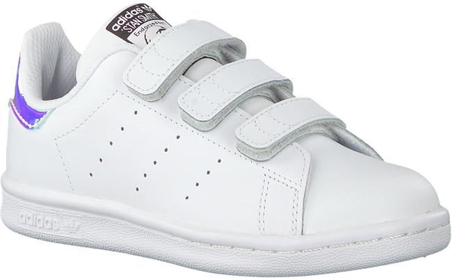 Witte ADIDAS Sneakers STAN SMITH KIDS VELCRO  - large