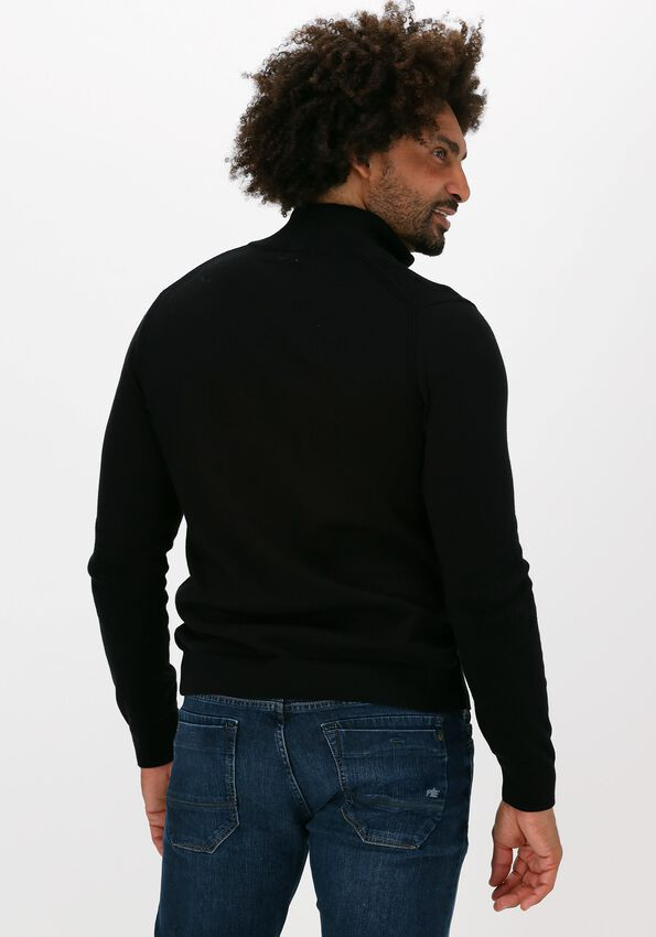 Zwarte VANGUARD Sweater HALF ZIP COLLAR PIMA COTTON - larger