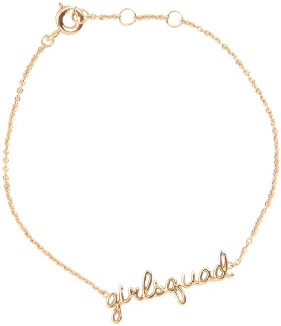 Gouden ALLTHELUCKINTHEWORLD Armband URBAN BRACELET GIRLSQUAD - large