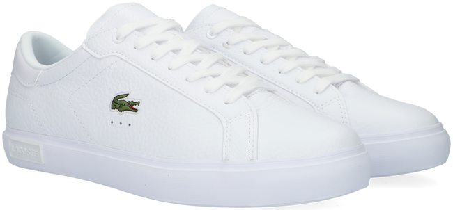 Witte LACOSTE Lage sneakers POWERCOURT  - large