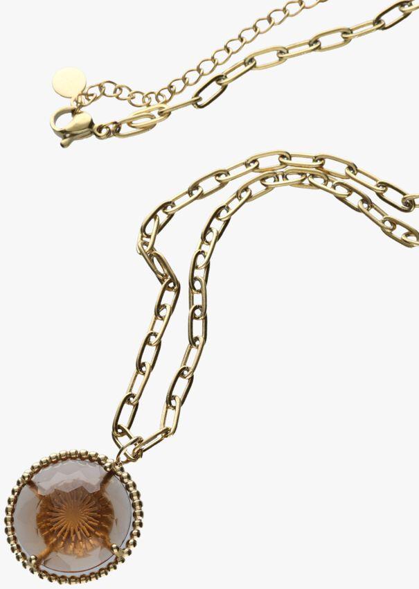 Gouden NOTRE-V Ketting KETTING GLAS STEEN  - larger