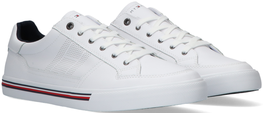 Witte TOMMY HILFIGER Lage sneakers CORE CORPORATE LEATHER SNEAKER - larger