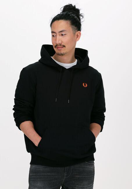 Zwarte FRED PERRY Sweater LAUREL WREATH HOODED SWEATSHIR  - large