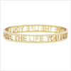 Gouden MY JEWELLERY Armband LOVE THE LIFE YOU LIVE OPEN - small