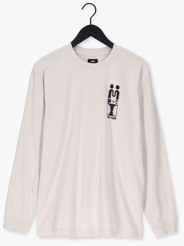 Witte EDWIN T-shirt SUPPLY TS LS  - larger