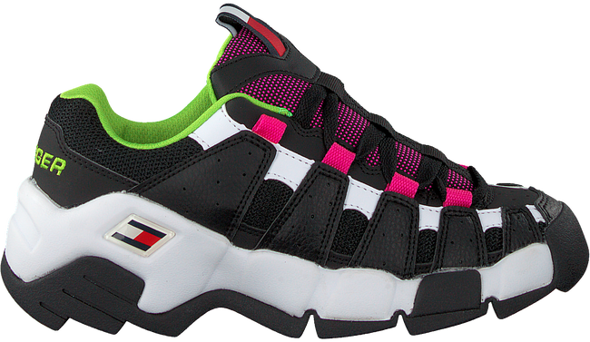 Zwarte TOMMY HILFIGER Lage sneakers CHUNKY HERITAGE WMNS  - large
