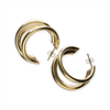 Gouden NOTRE-V Oorbellen OORBEL DRIE RINGEN  - small
