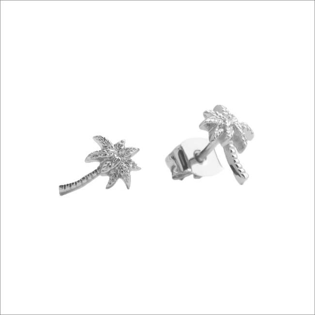 Zilveren ATLITW STUDIO Oorbellen PARADE EARRINGS PALM - large
