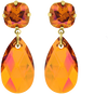 Oranje JEWELLERY BY SOPHIE Oorbellen DOUBLE GLAMOUR EARRINGS - small