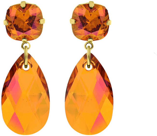 Oranje JEWELLERY BY SOPHIE Oorbellen DOUBLE GLAMOUR EARRINGS - large