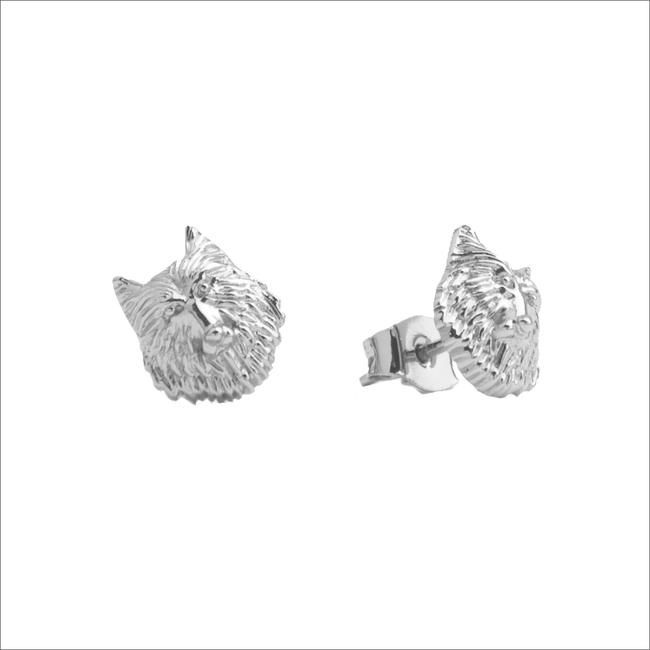 Zilveren ATLITW STUDIO Oorbellen PARADE EARRINGS WOLF - large