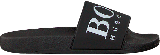 Zwarte BOSS Slippers SOLAR SLID LOGO - large