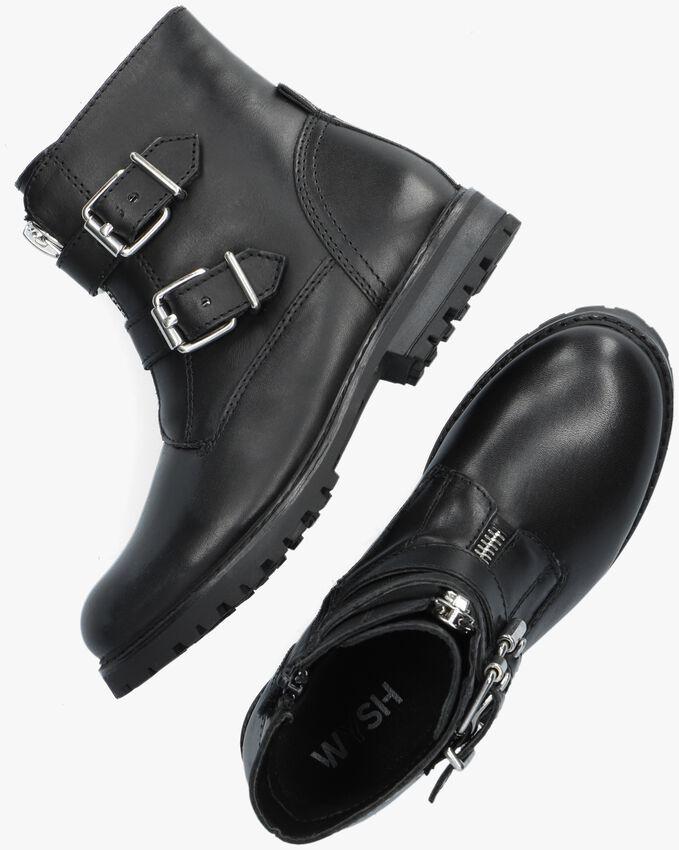 Zwarte WYSH Biker boots KENDALL  - larger