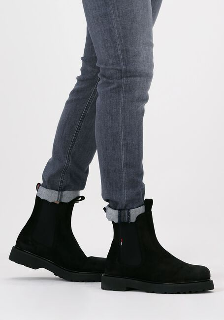 Zwarte TOMMY JEANS Chelsea boots SUEDE CHELSEA - large