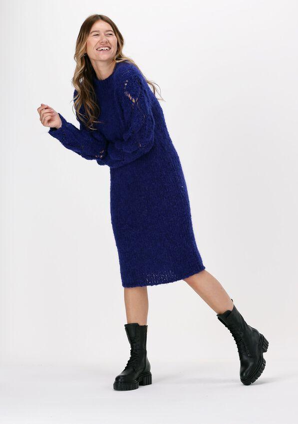Paarse JUST FEMALE Mini jurk SAGTA KNIT DRESS - larger
