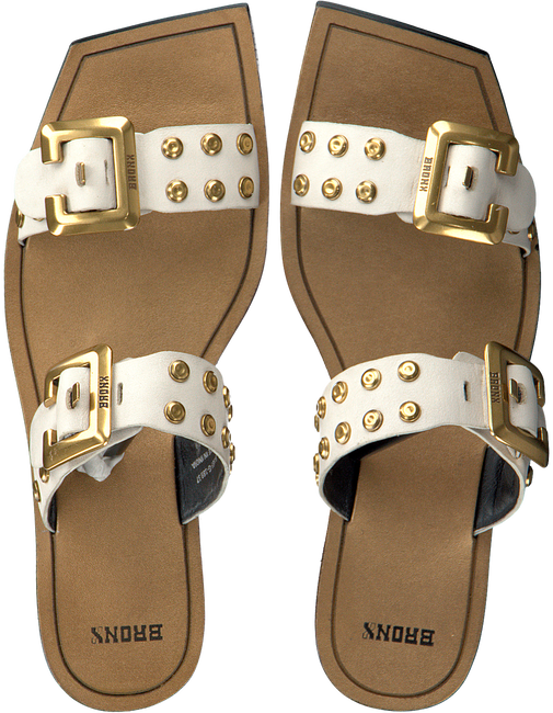 Witte BRONX Slippers ANOMA  - large