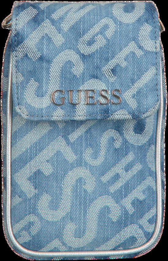 Blauwe GUESS Schoudertas MANHATTAN CHIT CHAT  - larger
