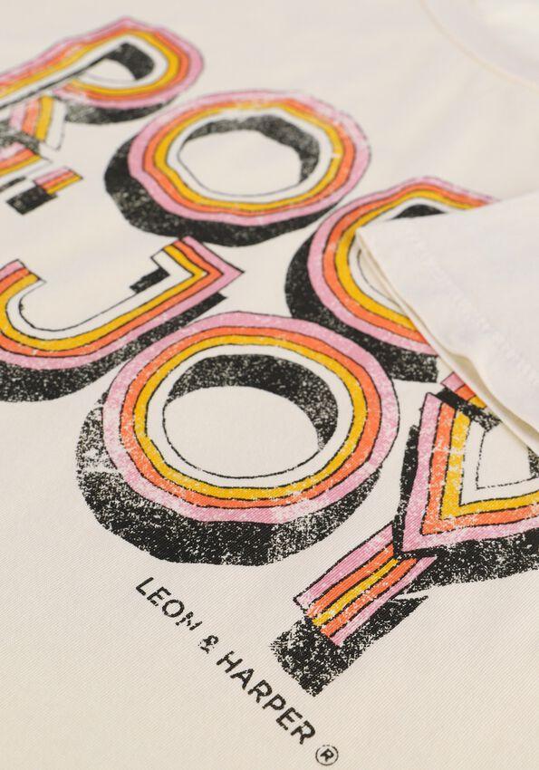 Gebroken wit LEON & HARRPER T-shirt TORO JC05 JOY  - larger
