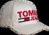 Witte TOMMY HILFIGER Pet TJU FLOCK PRINT CAP - small